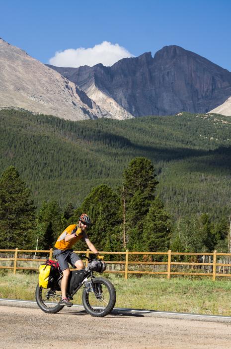 Dave Cruising by Longs Peak
