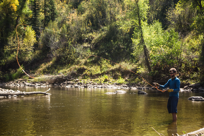 Dave Fly Fishing on the Elk River