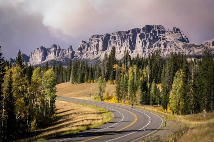 Pinnacle Buttes and Wildfire Clouds