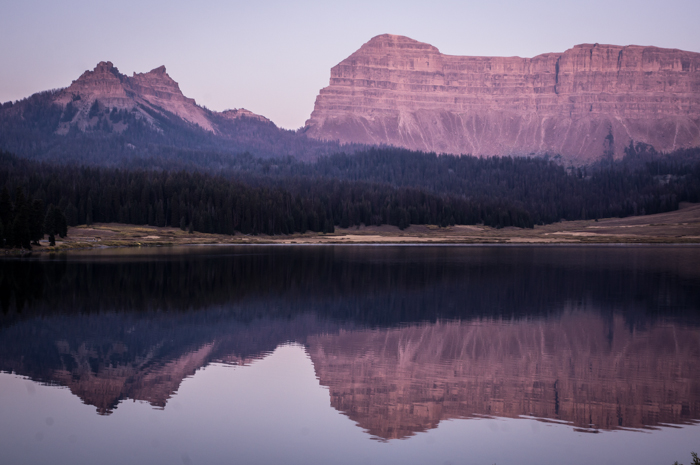 Sublette Peak and Brooks Lake at Sunrise