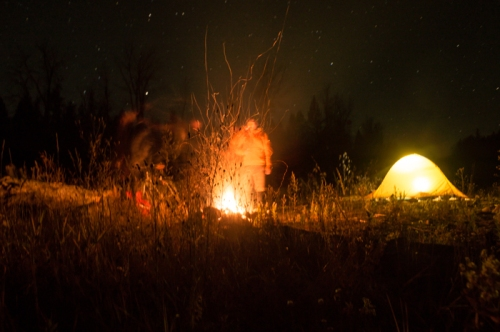 Camping on the Canadian Border