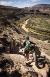 Hike-a-bikes are prevalent on the Kokopelli