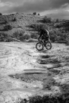 Biking on the Moon (on a Moonlander)