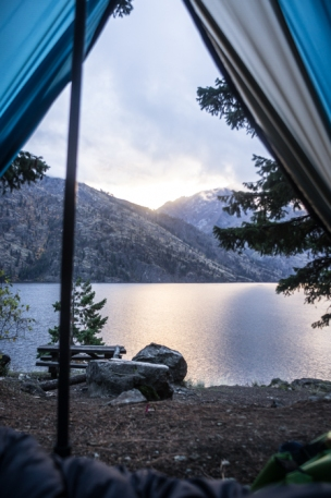 Waking Up at Domke Falls Above Lake Chelan