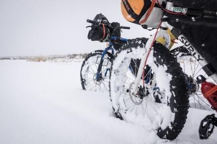 "The Bikes Enjoying 14"" of Snow"
