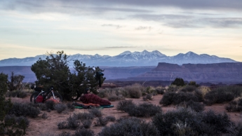 Morning Breaks over the La Sals at White Crack Campground