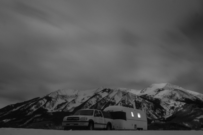 Airstream in Winter