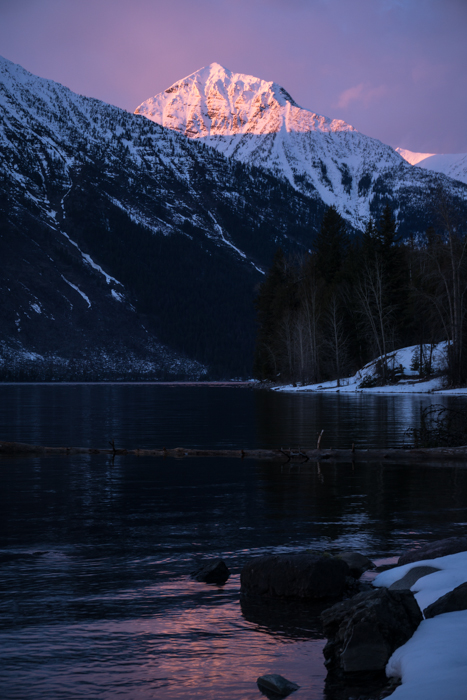 Lake McDonald with Mt. Vaught Standing in the Alpenglow