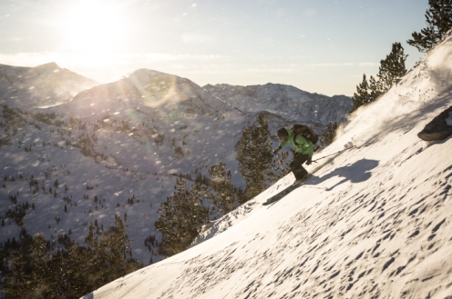 Jesse Dudley Ripping Evening Turns into Little Cottonwood Canyon