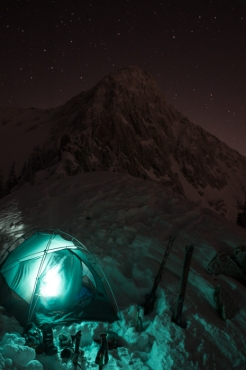 Jonny Cromwell and Myself Camped out below the Pfiefferhorn