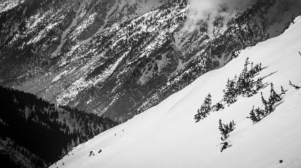Scot Livingstone Dropping A Knee above Little Cottonwood Canyon