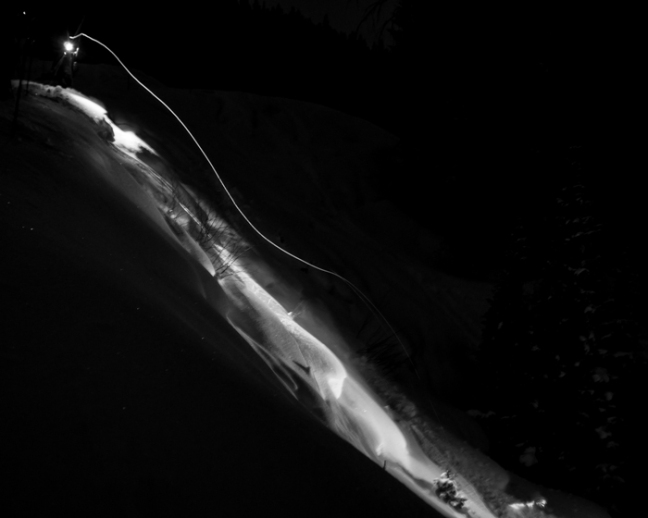 Kyle Gilbert Night Pillow Skiing