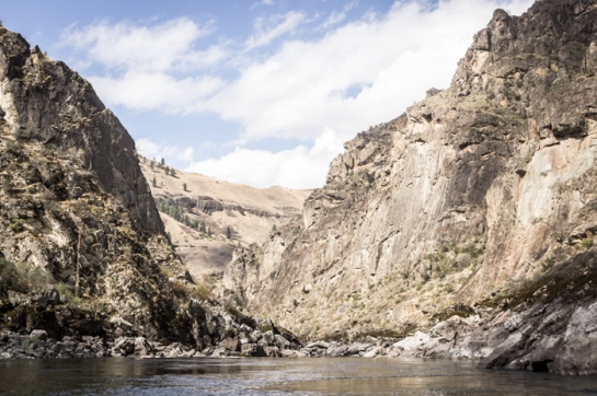 Canyon Walls Above Snowball Rapid