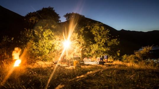 Final Campsite Just inside Oregon