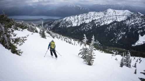 Justin Raging His Baby-skis Above Lake MacDonald