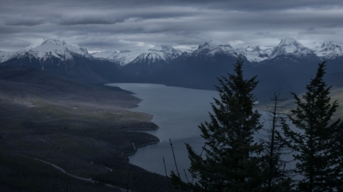 Weather Rolling Into the Park over Lake MacDonald