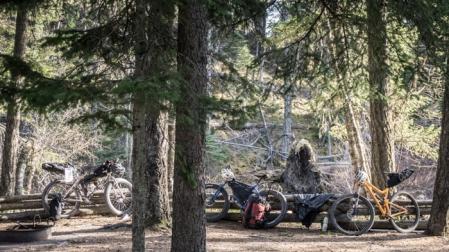 The Bikes at Kintla Lake Campground