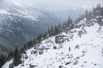 Grete Descending From Gunsight Pass