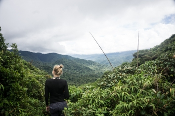 Grete Soaking In the Views Above the Monteverde Cloud Forest Biological Reserve