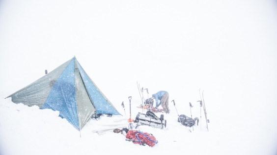 Working with Low Visibility on the Glacier