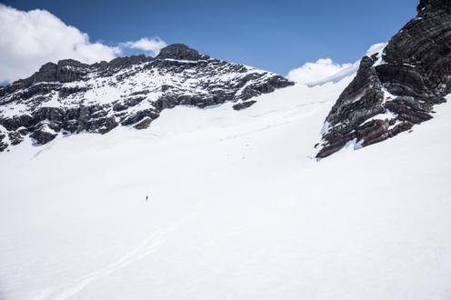 Adam Heading Out onto the Glacier