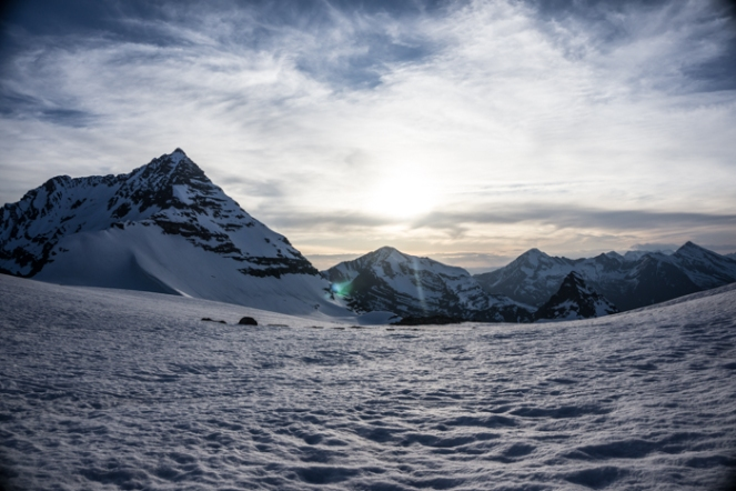 Edwards and Little Matterhorn In the Evening Alpine Light