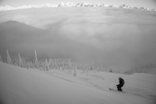 Skiing Into the Clouds