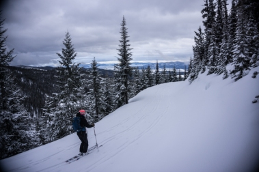 Grete Returning After a Late Afternoon Ski
