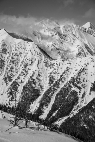 The Flathead Range's Mt. Grant and Great Northern