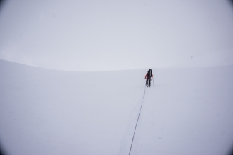 Anthony Looking for Crevasses