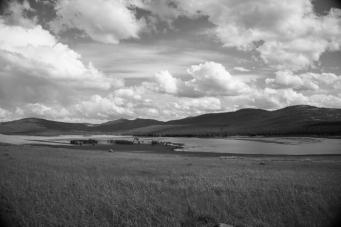 Joe Pedalling Through Lost Trail National Wildlife Refuge