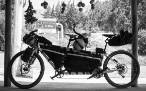 Our Comotion Java Tandem in Bikepacking mode